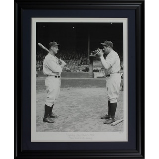 Babe Ruth Lou Gehrig Framed 24x29 Opening Day Hulton Archive Giclee LE 21 375