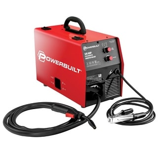 Powerbuilt 125A Portable IGBT Inverter Wire Feed MIG Flux Welder - 240131