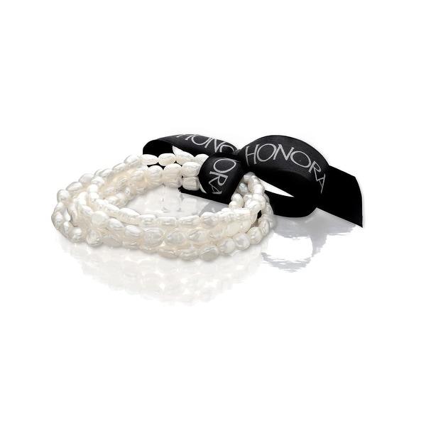 Honora Set of 5 5-6MM Freshwater Pearl Bracelets