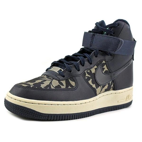 Nike Air Force 1 Hi LIB QS Women Round Toe Leather Blue Basketball Shoe