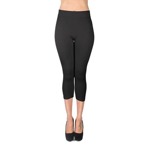 Women's Solid Color Soho Capri Leggings