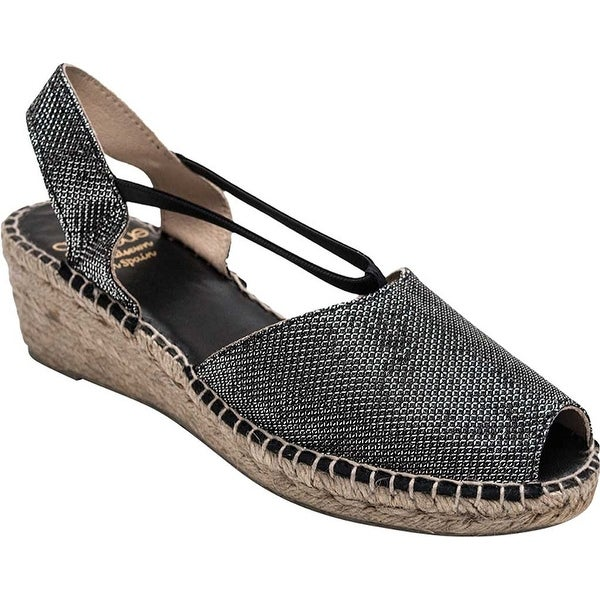 André Assous Womens Dainty Peep Toe Casual Espadrille Sandals