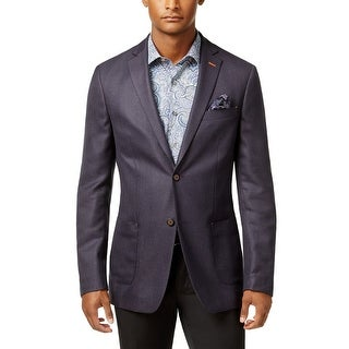 Tallia Orange Slim Fit Purple Melange 2-Button Sportcoat 42 Regular 42R Blazer