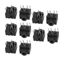 10Pcs PCB Mount 5 Pins 3.5mm Audio Stereo Power Jack Socket Connector
