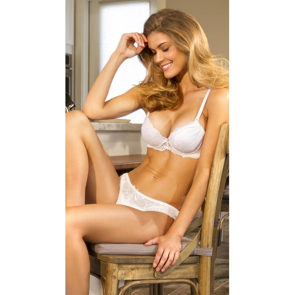 Shop Red Carpet Ready White Lace Bra f7bed7be2