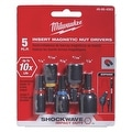 Milwaukee 5Pc Insrt Mag Nut Dr Set - Thumbnail 0