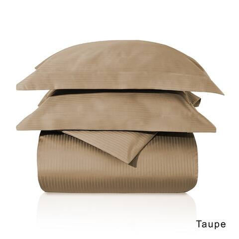 Superior Egyptian Cotton 1000 Thread Count Stripe Duvet Cover Set