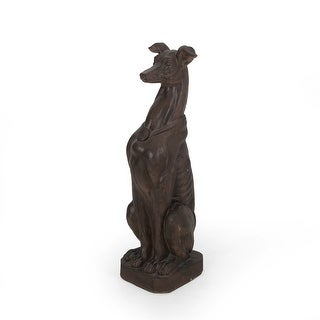 Link to Brandbury Greyhound Dog Statue by Christopher Knight Home Similar Items in Outdoor Decor