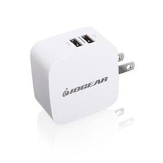 Iogear Gearpower 2-Port 4.2A Usb Wall Charger For Simultaneous Rapid-Charge Of Smartphones And Tablets, Gpaw2u4