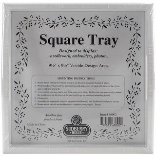 """White Small Square Tray 10""""X10""""-Design Area 9.5""""X9.5"""""""