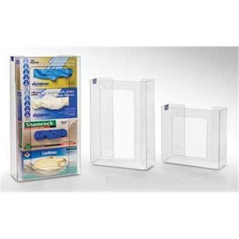 RackEm Racks 4-Box Vertical Stacking Glove Dispensers - Clear Plastic