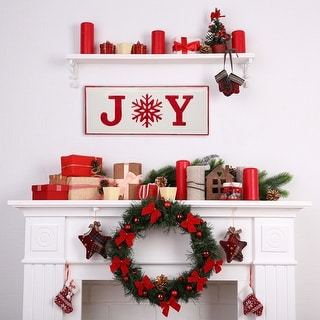 """Link to Glitzhome 24""""H """"JOY"""" Wall Decor Similar Items in Christmas Decorations"""