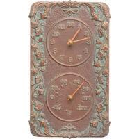 Acanthus Thermometer and Clock Copper Verdi