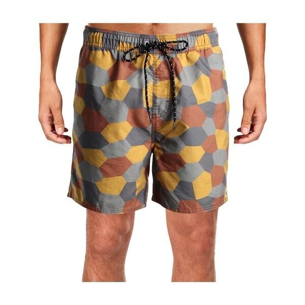 62a868b53f Shop Tavik Mens Belmont Geo Print Swim Trunks Board Shorts - L - Free  Shipping On Orders Over $45 - Overstock - 28374803
