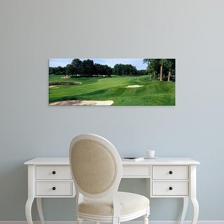 Easy Art Prints Panoramic Image 'Trees in golf course, Whirlpool Golf Course, NiagrFalls, Ontario, Canada' Canvas Art