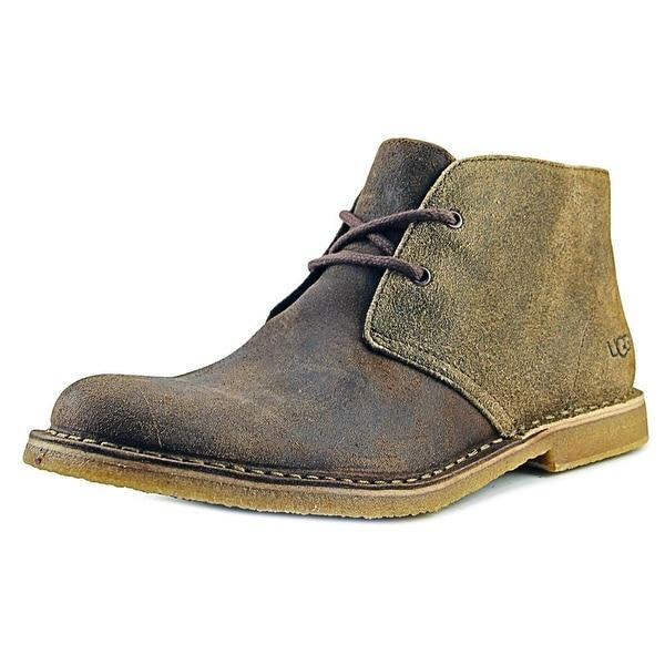 e50029955c6 Shop Ugg Australia Leighton Bomber Men Round Toe Leather Tan Chukka ...