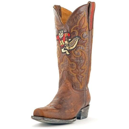 Gameday Boots Mens College Minnesota Golden Gophers Brass