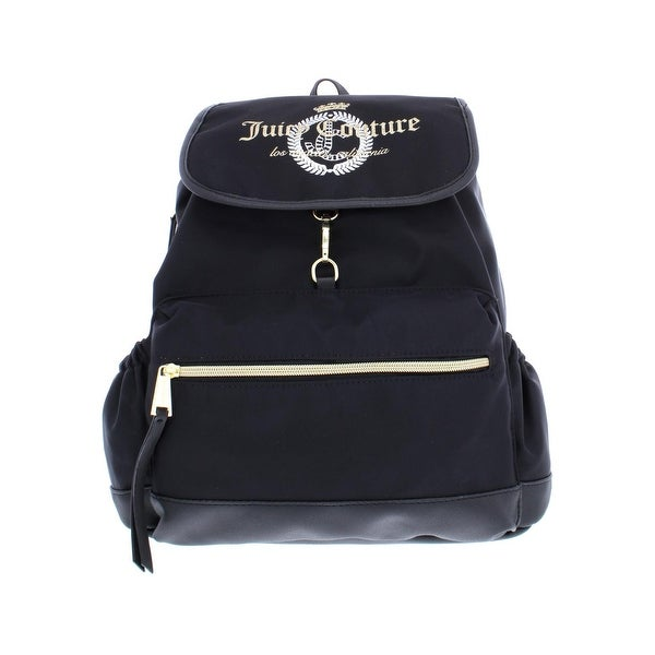 Juicy Couture Womens Glitteratzi Backpack Nylon Faux Leather Trim - Small 11c3cb37dc82