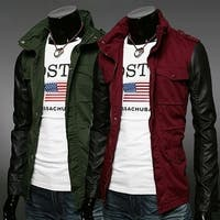 Fashion Hot Stylish Men's Stand Out Casual Jackets Men Coats Slim Fit Leisure