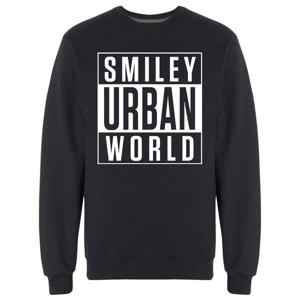21480464f8b29 Smiley Urban World Advisory Label Graphic Men's Sweatshirt