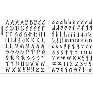 Sticko Alphabet Stickers-Brush Black