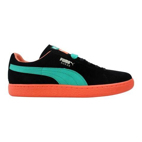 a0048e2e1 Puma Men's Suede Classic+ LFS Black-Fluorecent Teal-Fluorecent Peach 356328  10