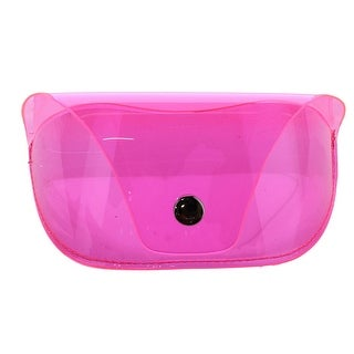 CTM® Women's Neon Translucent Glasses Case with Button Closure - One size