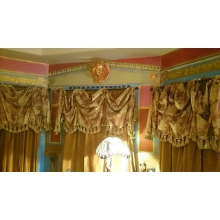 Exclusive Fabrics Old Gold Vintage Cotton Velvet Curtain