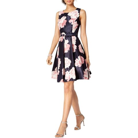 Jessica Howard Womens Cocktail Dress Floral Print Fit & Flare