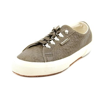 Superga Caravaggio Round Toe Leather Sneakers
