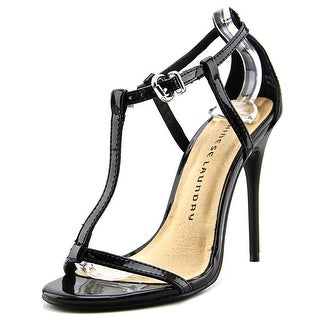 Chinese Laundry Leo Women Open-Toe Synthetic Black Heels