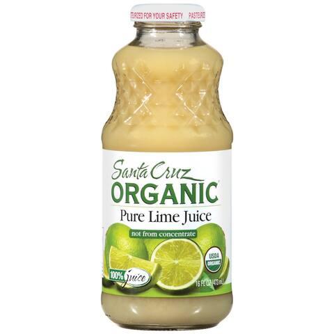 Santa Cruz Organic Pure Juice - Lime - Case of 12 - 16 Fl oz.