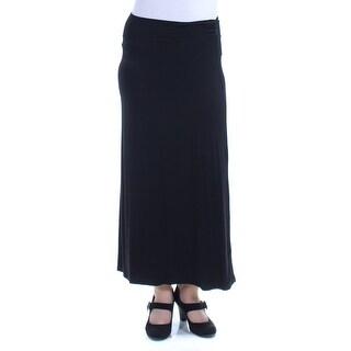 Womens Black Maxi A-Line Skirt Size XL