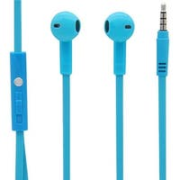 Stereo In-Ear Earbuds with In Line Mic - Blue