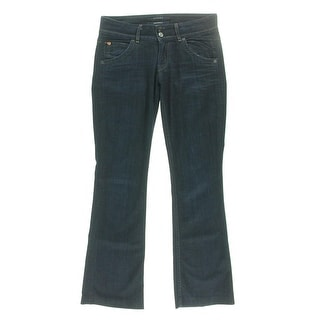 Hudson Womens Signature Bootcut Jeans Distressed Whisker Wash - 27