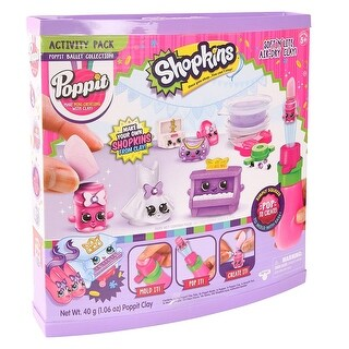 Shopkins Poppit Ballet Collection Mini Creations W Clay Soft N Lite Air-Dry