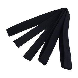 Martial Arts Karate Taekwondo Cotton Blend Sporty Band Belt Black 2.8M Length