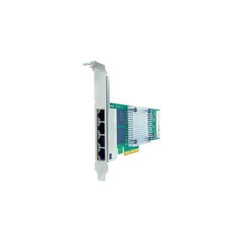 Axiom 10/100/1000Mbs Quad Port RJ45 PCIe x4 NIC Card for Dell - 430-4999
