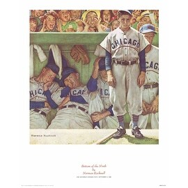 ''Bottom of the Ninth'' by Norman Rockwell Americana Art Print (14 x 11 in.)