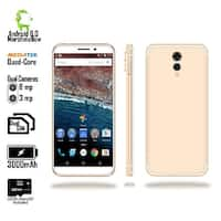 "Indigi 2018 GSM Unlocked 4G LTE Android 6.0 Marshmallow 5.6"" SmartPhone [Quad-CORE @ 1.2GHz + 2SIM] Gold + 32gb microSD"