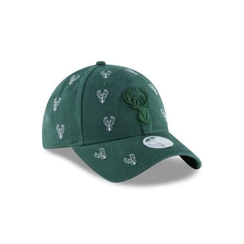 Milwaukee Bucks Logo Scatter 9TWENTY Women's Adjustable Hat