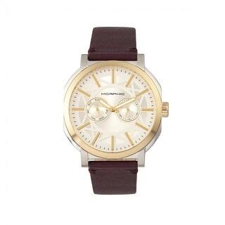 Morphic M62 Series Men's Quartz Watch, Genuine Leather Band, Luminous Hands