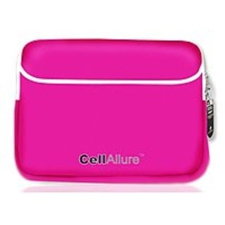 CellAllure CAPOJ10602 Laptop Sleeve for 15.4-inch Notebook - Pink, White