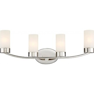 """Nuvo Lighting 60/6224 Denver 4 Light 29"""" Wide Bathroom Vanity Light with Frosted"""