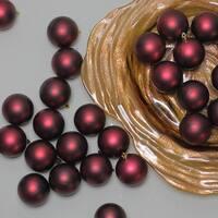 "60ct Burgundy Red Shatterproof Matte Christmas Ball Ornaments 2.5"" (60mm)"