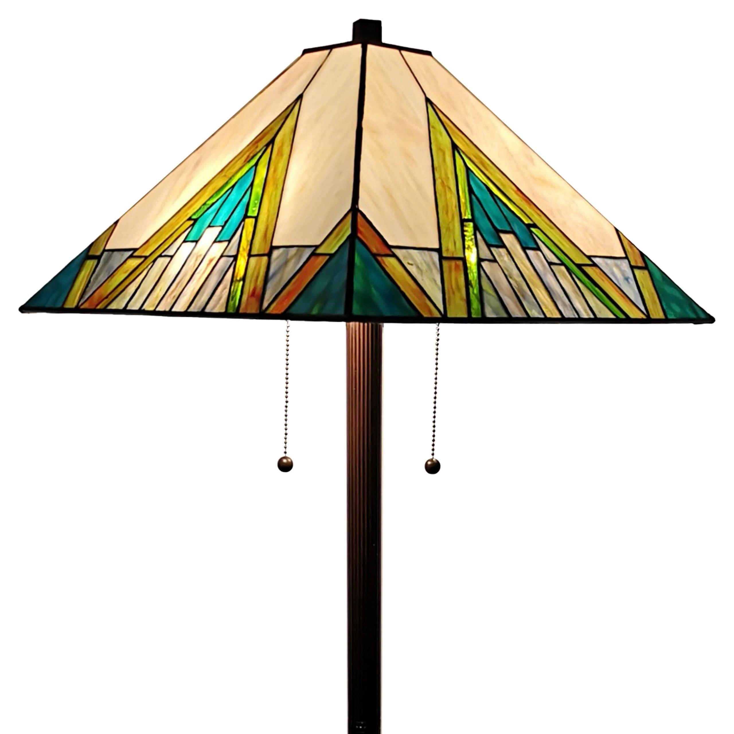 Tiffany Style Mission Floor Lamp
