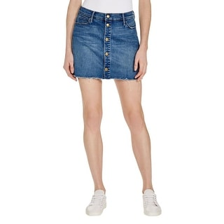 Mother Womens Mini Skirt Denim Stretch - 27