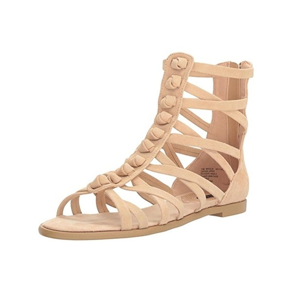 Kensie Womens Macklin Gladiator Sandals Suede Open Toe