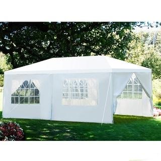Gymax  10'x20' Heavy Duty Canopy Party  Gazebo Cater Event Wedding TentW/Side Walls