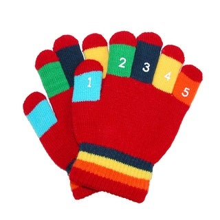 Grand Sierra Toddler 2-4T Knit Stretch Counting Gloves - One Size
